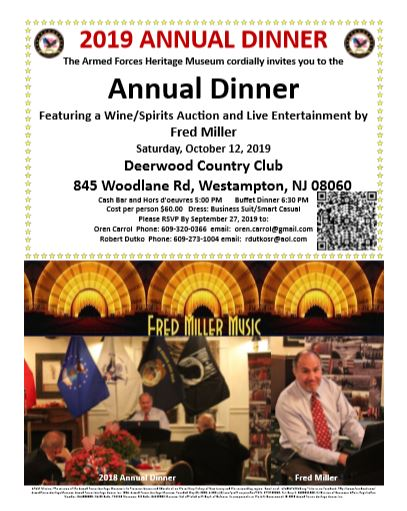 2019 AFHMUS Annual Dinner @ Deerwood Country Club   Westampton   New Jersey   United States