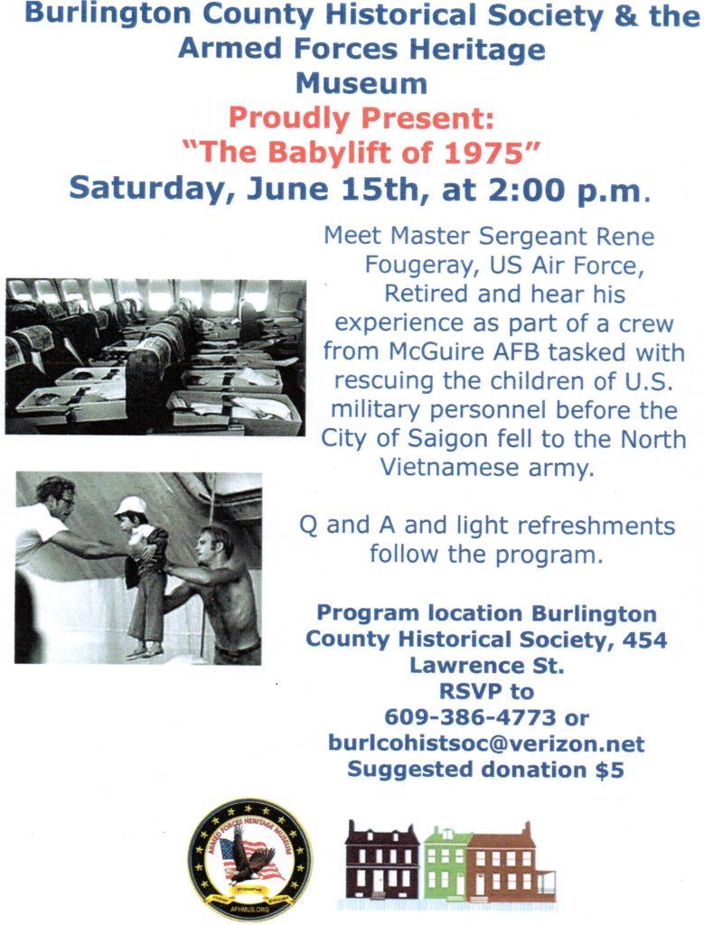 The Babylift of 1975 @ Burlington County Historical Society | Burlington | New Jersey | United States